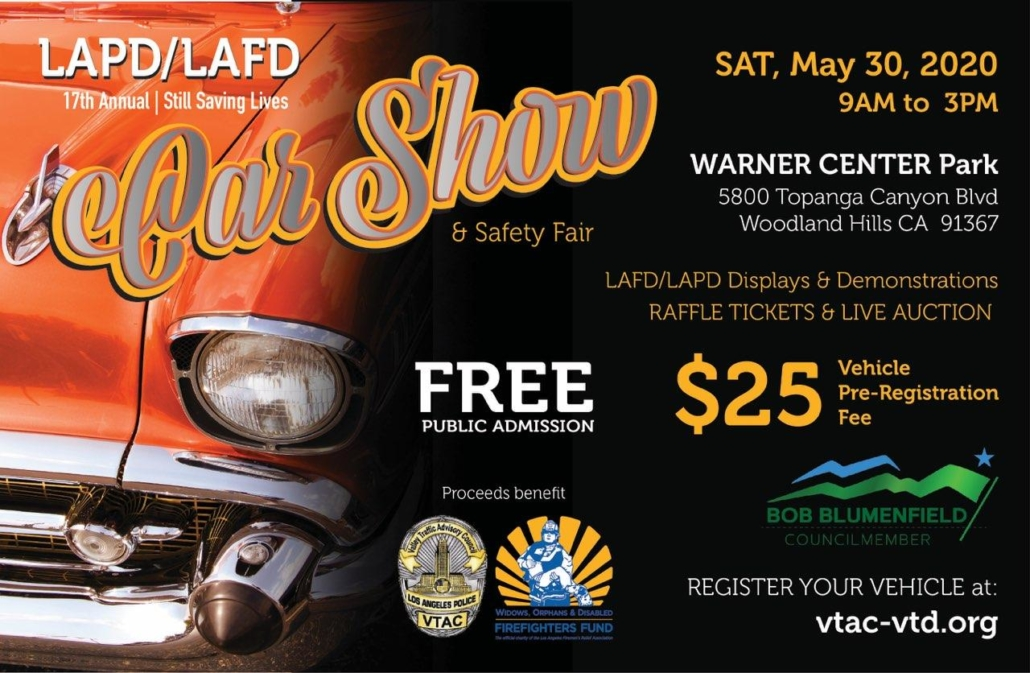 EVENT CANCELLED - LAPD/LAFD 17th Annual Car Show & Safety Fair @ Warner Center Park | Los Angeles | California | United States